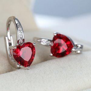 ❤️ Ruby Heart ❤️ Earrings